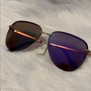 Purple Frame Aviator Sunglasses
